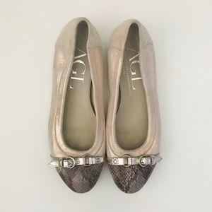 AGL Cap Toe Ballet Flats - Size 8